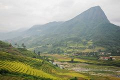 Prohibición Ho Village, distrito de Sapa, Lao Cai Province, Vietnam del noroeste Foto de archivo