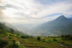 Prohibición Ho Village, distrito de Sapa, Lao Cai Province, Vietnam del noroeste Imagen de archivo libre de regalías