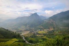 Prohibición Ho Village, distrito de Sapa, Lao Cai Province, Vietnam del noroeste Imagenes de archivo