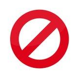 Prohibición plana del icono Imágenes de archivo libres de regalías