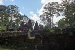 Prohibición Tai Srei Temple, complejo del templo de Banteay Srei de Angkor fotos de archivo
