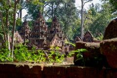Prohibición Tai Srei Temple, complejo del templo de Banteay Srei de Angkor imagen de archivo libre de regalías