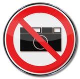 Prohibicja żadny fotografia pozwolić Zdjęcie Stock