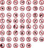 prohibicja stoły ilustracja wektor