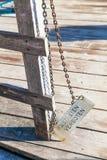 Prohibicja szyldowa na zewnątrz terenu zamkniętego Zdjęcia Royalty Free
