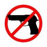 Prohibicja znak ?adny pistolety ilustracja wektor