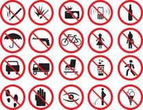 prohibicja znaki Fotografia Royalty Free