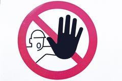 Prohibido Fotos de archivo