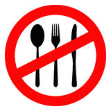 Prohibido para comer Foto de archivo libre de regalías