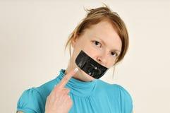 Prohibido para hablar foto de archivo