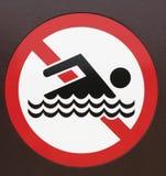 Prohibido para nadar Imágenes de archivo libres de regalías