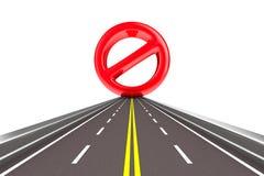 Prohibir la muestra en el camino Fotos de archivo libres de regalías