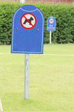 Prohibit dog. In the yard Royalty Free Stock Photo