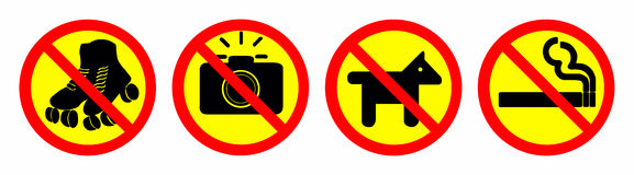 Prohibit sign Stock Photo