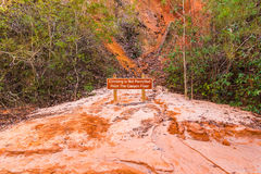 Prohibit sign on floor of Providence Canyon, USA Stock Photos