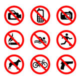 Prohibit sign vector Royalty Free Stock Photos