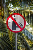 Prohibit smoke cigarettes Royalty Free Stock Photography