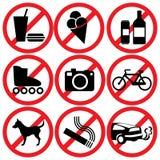 Prohibited Stock Photo