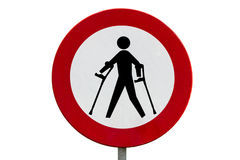 Prohibited for persons with reduced mobility Royalty Free Stock Photography