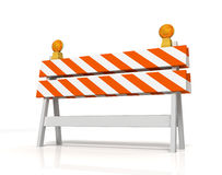 Prohibited barrier concept   3d illustration. Prohibited barrier 3d illustration isolated on white background Royalty Free Stock Image