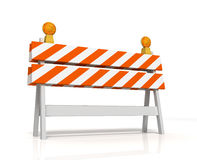 Prohibited barrier concept  3d illustration. Prohibited barrier 3d illustration  on white background Stock Photo