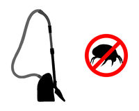 Prohibited for house dust mites and vacuum cleaner Stock Images