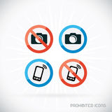 Prohibited Icons Illustration Stock Images