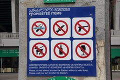 Prohibited items Stock Images