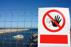 Prohibited. No pass. royalty free stock images
