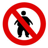 Prohibited people fat Stock Image
