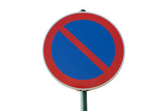 Prohibited road sign stop isolated on a white background Stock Photos