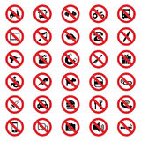 Prohibited sign Stock Images