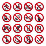 Prohibited Signs Stock Images