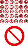 Prohibited Signs Stock Image
