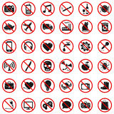 Prohibited Signs royalty free illustration