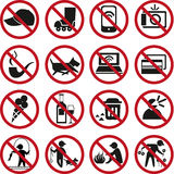 Prohibited signs Royalty Free Stock Image
