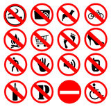 Prohibited signs Stock Photos