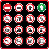 Prohibited Signs. Sticky label for supermarkets Stock Images