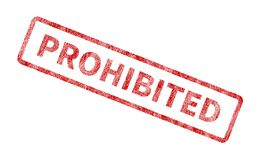 Prohibited Stamp - Red Grunge Seal. Rubber stamp isolated on white background Royalty Free Stock Photos