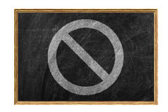 Prohibited symbol Stock Photography