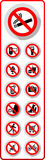 Prohibited symbols Royalty Free Stock Images