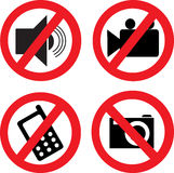 Prohibiting icons. Stock Photography