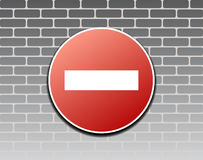 Prohibiting sign Royalty Free Stock Photos
