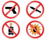 Prohibiting signs. Royalty Free Stock Photo