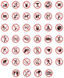 Prohibiting signs Stock Photos