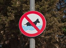 Prohibiting signs on the beach, Croatia Royalty Free Stock Photo