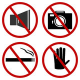 Prohibiting signs. Royalty Free Stock Image
