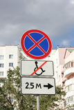 Prohibiting signs.  Stock Image