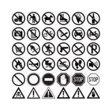 Prohibiting signs set  illustration Stock Photo