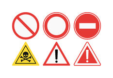 prohibiting signs set  illustration Royalty Free Stock Photos